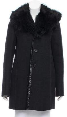 Marc Jacobs Faux Fur-Accented Wool Jacket