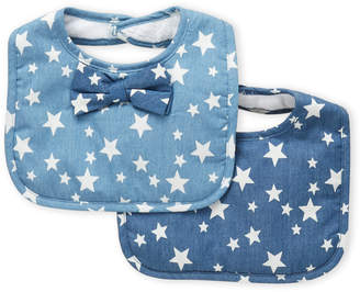 Baby Essentials Frenchie Mini Couture (Newborn Boys) Two-Pack Bow Tie & Star Bibs