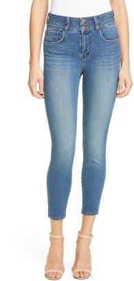 L'Agence Peyton High Waist Crop Skinny Jeans
