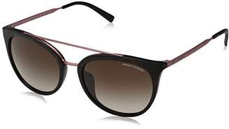Armani Exchange Women's Injected Woman Sunglass Round