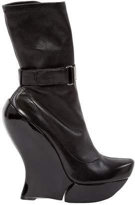 Celine Black Leather Ankle boots