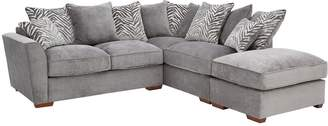 Very Kingston Fabric Right Hand Scatter Back Corner Chaise Sofa Bed with Footstool