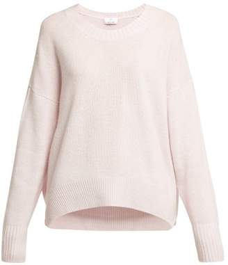 Allude Round Neck Cashmere Sweater - Womens - Light Pink