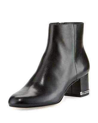 MICHAEL Michael Kors Sabrina Leather Ankle Boot, Black $199 thestylecure.com
