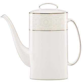 Kate Spade platinum\u002Fwhite chapel hill 52 oz. coffee pot