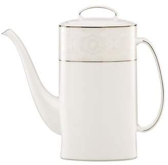 Kate Spade platinum\u002Fwhite chapel hill 52oz. coffee pot