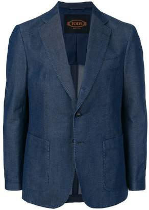 Tod's unstructured two-button blazer