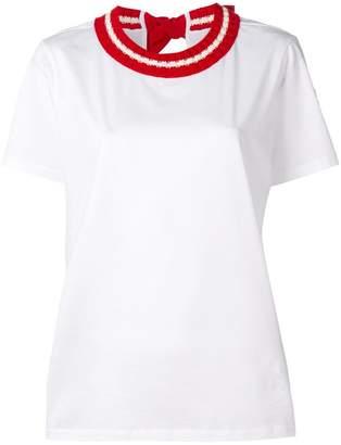 Moncler knit collar T-shirt
