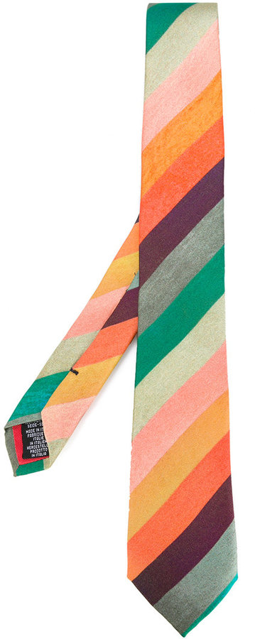 Paul Smith Paul Smith diagonal stripes tie