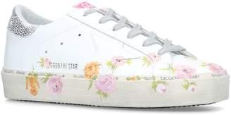 Golden Goose Painted Flower Hi Star Sneakers