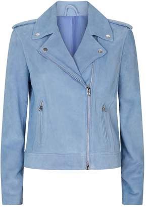 L'Agence Perfecto Suede Biker Jacket