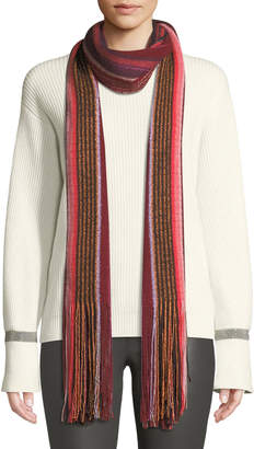 Missoni Metallic Striped Fringe-Trim Scarf