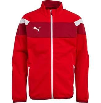 Puma Junior Boys Spirit II Poly Jacket Red/White