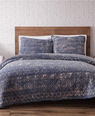 Pem America Brooklyn Loom Sand Washed Cotton King Quilt Set
