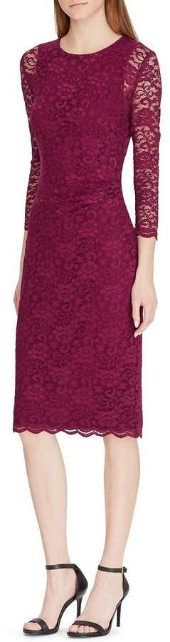Lauren Ralph Lauren Stretch Lace Sheath Dress
