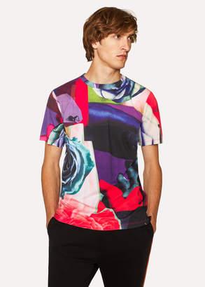 Paul Smith Men's 'Rose Collage' Print T-Shirt