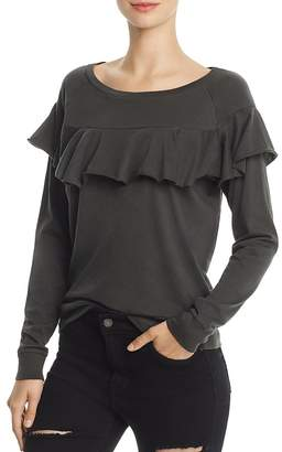 Nation LTD Ruffle Long Sleeve Tee - 100% Exclusive $96 thestylecure.com