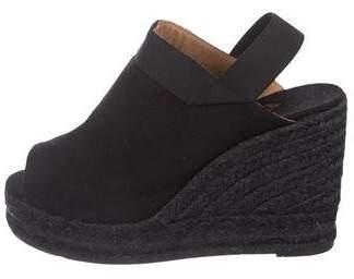 Castaner Woven Platform Wedge Sandals