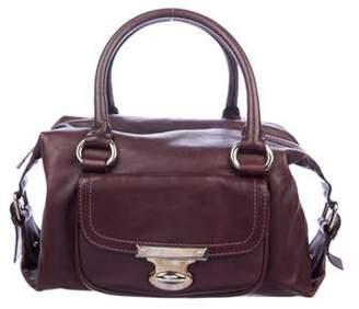 Marc Jacobs Leather Handle Bag Plum Leather Handle Bag