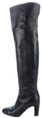Chanel CC Over-The-Knee Boots Black CC Over-The-Knee Boots