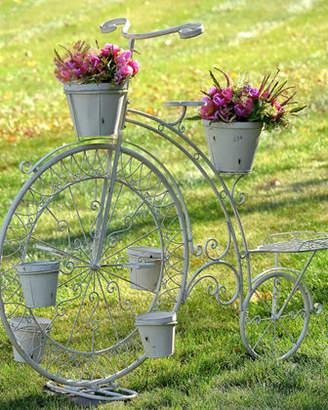 Zaer Ltd. International Stephania Big Wheel Large Bicycle with 6 Pot Plant Stand