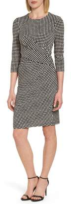 Anne Klein Polka Dot Faux Wrap Dress