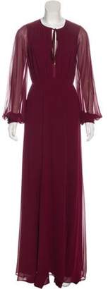 Erin Fetherston Ruche-Accented Maxi Dress Ruche-Accented Maxi Dress