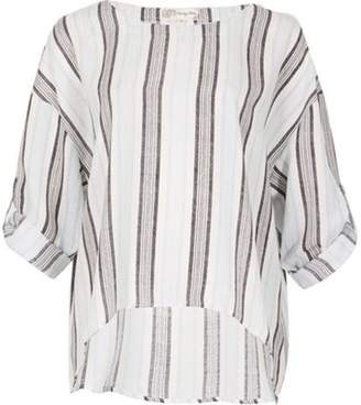 Dorothy Perkins Womens *Voulez Vous Blue and Navy Stripe Top