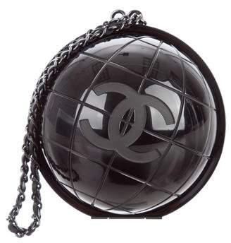 Chanel Plexiglass Globe Clutch