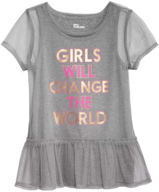 Epic Threads Big Girls Layered-Look Mesh T-Shirt