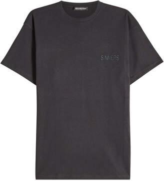 Balenciaga Sinners Oversized Cotton T-Shirt