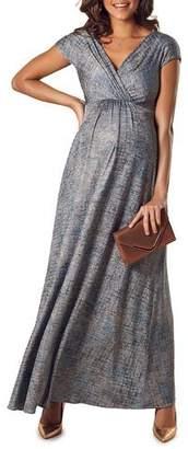 Tiffany & Co. Rose Maternity Francesca Short-Sleeve Maxi Dress