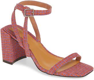 Jaggar Houndstooth Ankle Strap Sandal
