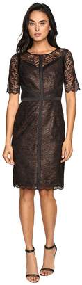 NUE by Shani Lace Dress with Black Piping Detail Women's Dress