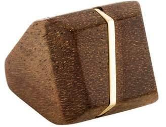 Kara Ross 18K Maple Wood Square Ring