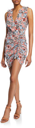 Veronica Beard Soheyla Floral Ruched Mini Dress