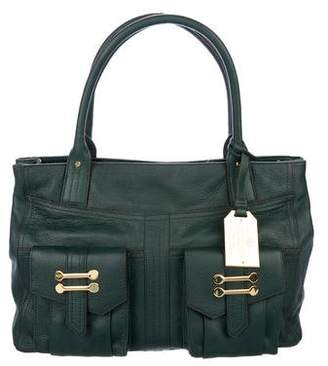 Lauren Ralph Lauren Leather Flap Pocket Tote