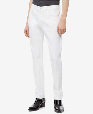 Calvin Klein Jeans Men's Slim-Fit Nantucket Ckj 026White Jeans