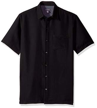 Van Heusen Men's Printed Rayon Short Sleeve Shirt