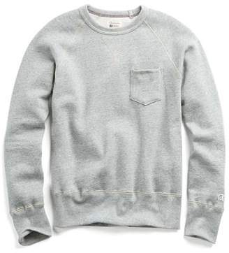 Todd Snyder + Champion Classic Pocket Sweatshirt in Light Grey Mix