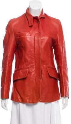 Belstaff Leather Zip-Up Jacket