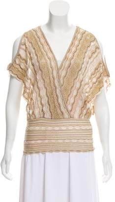 Missoni Patterned Cold-Shoulder Knit Blouse