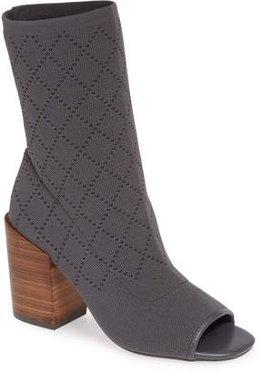 Kelsi Dagger Brooklyn Macey Knit Peep Toe Bootie