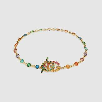 Gucci GG Running bracelet with multicolor stones