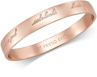 Kate Spade Rose Gold-Tone Bridesmaid Bangle Bracelet