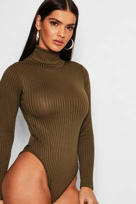 boohoo Jumbo Rib Roll Neck Body