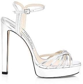Jimmy Choo Women's Lilah Platform Metallic Leather Sandals
