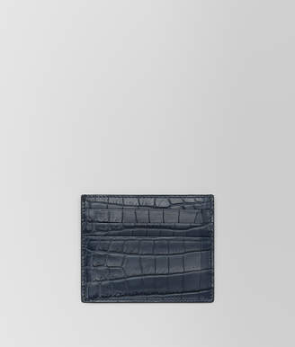 Bottega Veneta DENIM CROCODILE CARD CASE