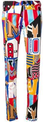 Love Moschino multicoloured graphic trousers