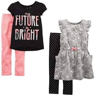 Carter's Simple Joys by Toddler Girls 4-Piece Playwear Set